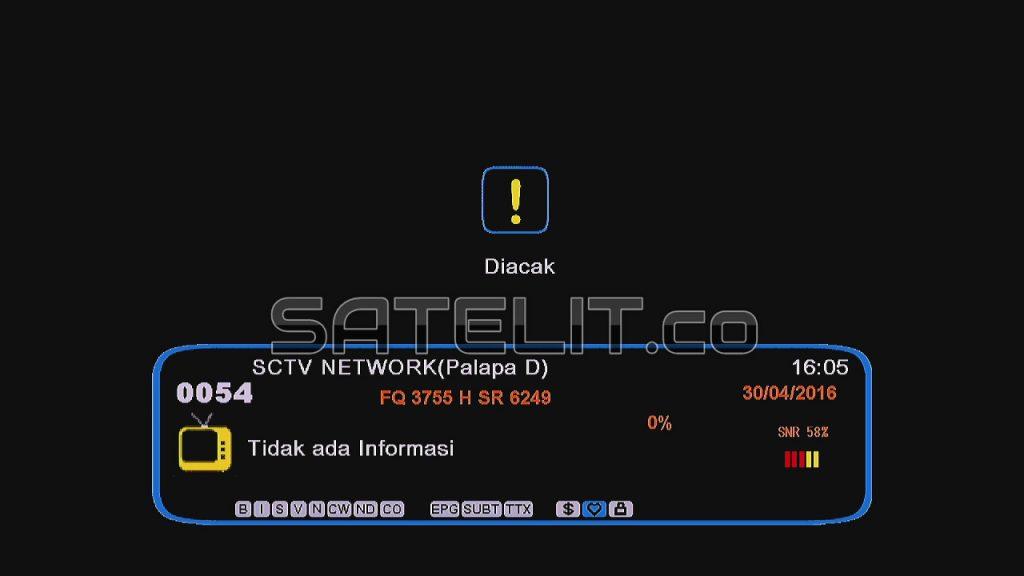 Siaran SCTV diacak saat menyiarkan Turnamen Torabika Soccer Championship.