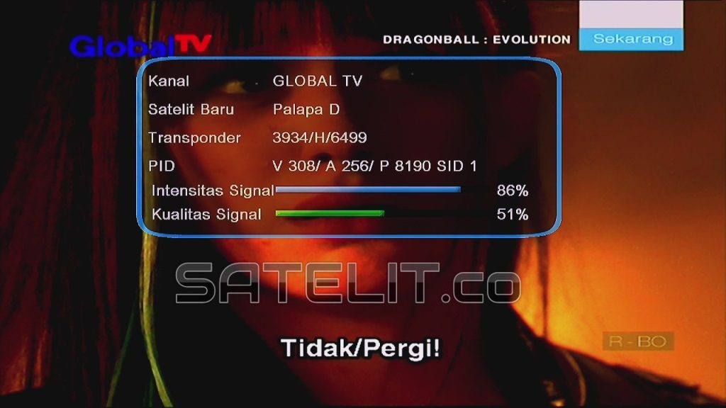 SIARAN Global TV di frekuensi lama (MPEG-2) lebih cepat dua detik dibandingkan yang terbaru.