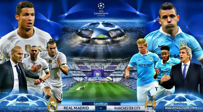 Siaran TV yang Menyiarkan Real Madrid vs Manchester City