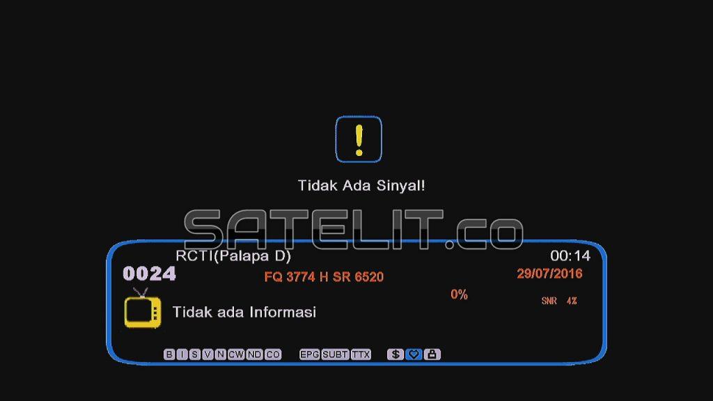 SIARAN televisi RCTI format MPEG-2 di satelit Palapa D yang sudah hilang.  (Dok. FORSATER.com)