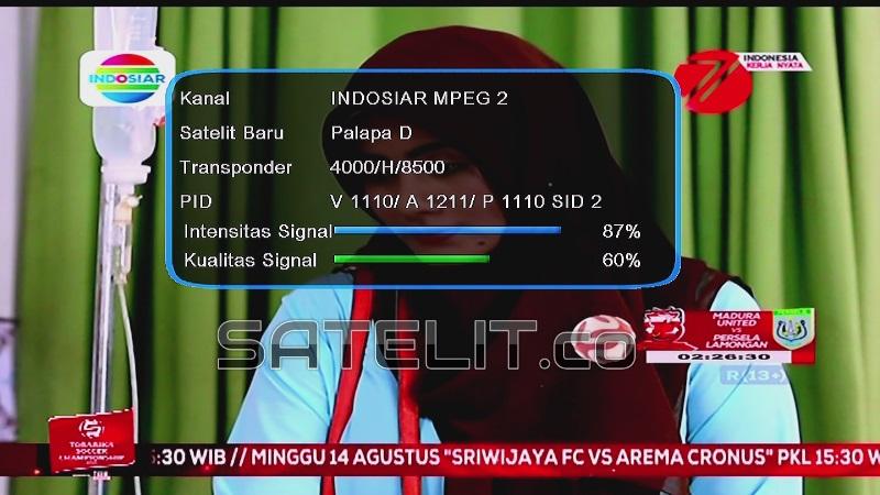 PENAMPAKAN siaran televisi Indosiar yang di-capture, Sabtu (13/08/2016). (Dok. FORSATER.com)