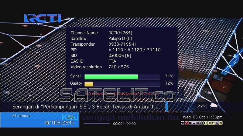 Sinyal RCTI di format MPEG-4 mengalami penurunan. (Dok. FORSATER.com)