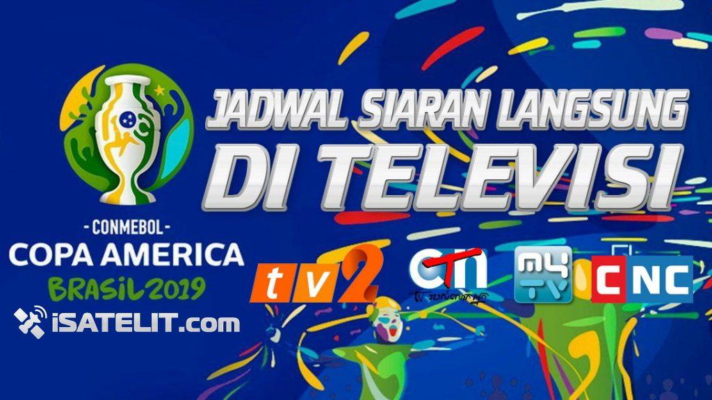 Jadwal Siaran langsung Copa America 2019 di Televisi