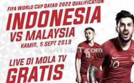 Mola TV Siarkan Laga Indonesia vs Malaysia Gratis