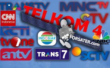 Daftar Siaran Televisi di Satelit Telkom 4
