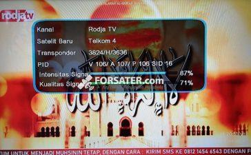 Frekuensi Rodja TV dan Radio Rodja di Telkom 4