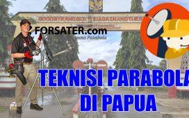 Teknisi Parabola di Papua