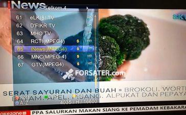 Frekuensi RCTI, MNCTV, GTV dan iNewsTV di Telkom 4