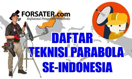 Daftar Teknisi Parabola se-Indonesia