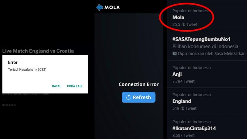 Aplikasi Mola TV Error Rating Turun Drastis, Trending dan Diedit di Wikipedia
